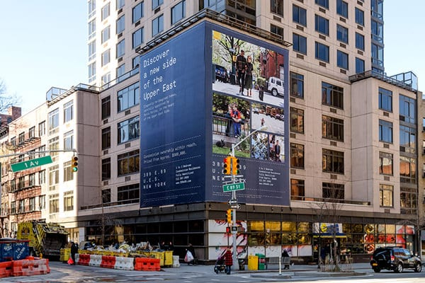 large outdoor printing project in New York NY