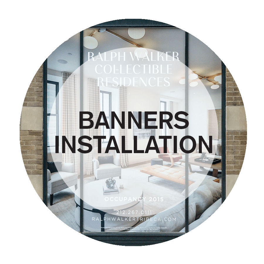 Banners Installation Service in NYC
