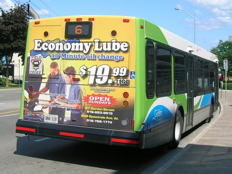 NYC bus wrap advertising design