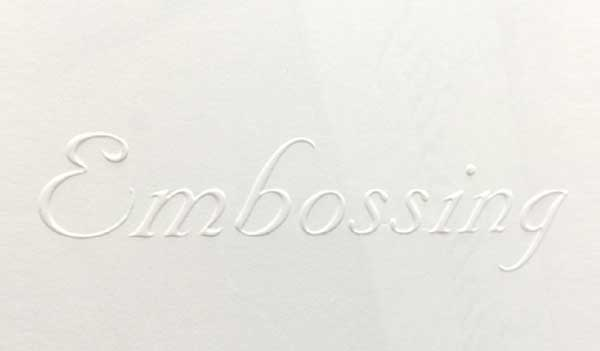 Print Embossing Services in NYC